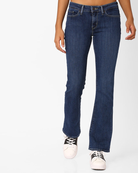 Boot-Cut Jeans With Belt Loops By LEVIS ( Blue )