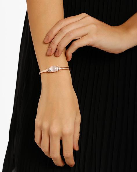 Stone-Studded Bracelet By Style Fiesta ( Grey )