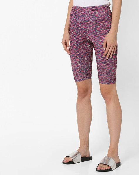 Printed Mid-Rise Shorts By Clovia ( Black )