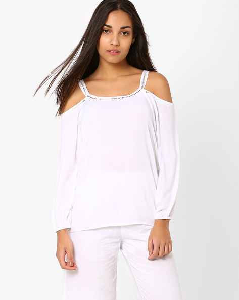 Cold-Shoulder Top By RIDRESS ( White )