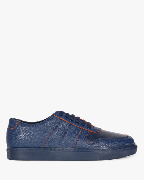 Textured Sneakers With Perforated Upper By Funk ( Navy )