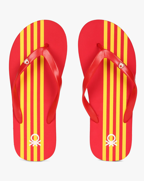 Thong-Strap Flip-Flops By UNITED COLORS OF BENETTON ( Red )