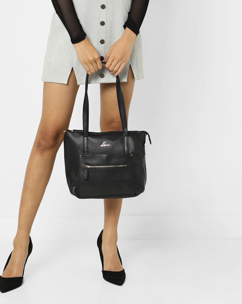 Skylon Textured Tote Bag With Detachable Sling By Lavie ( Black )