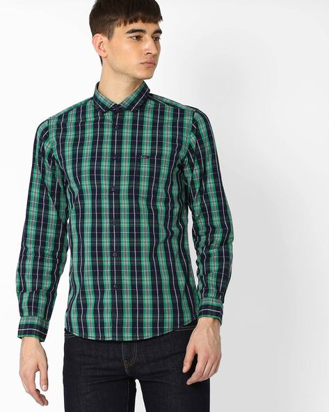Checked Shirt With Chest Pocket By Pepe Jeans ( Green )