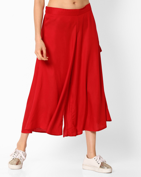Culottes With Tie-Up By COLOUR ME ( Red )