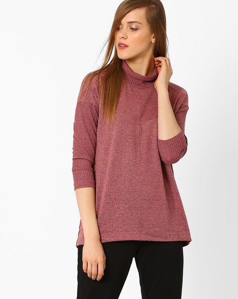 High-Neck Top By Marks & Spencer ( Pink )