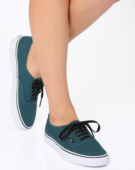 Authentic Lace-up Casual Shoes By Vans ( Teal )