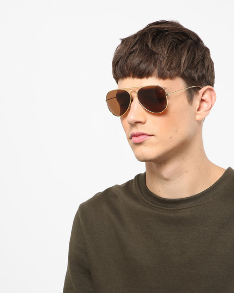 UV-Protected Aviators With Top Bar By CREED ( Brown )