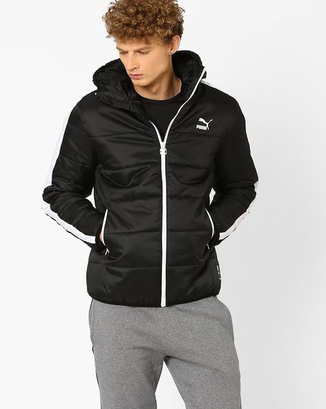Buy Puma Men Black T7 Padded Regular Fit Hoodie Jacket | AJIO : puma quilted jacket - Adamdwight.com