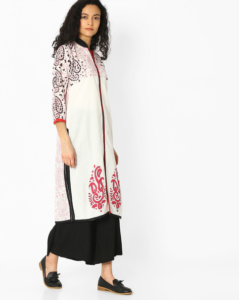 Paisley Print Cotton Straight Kurta By Mmantra ( Multi )