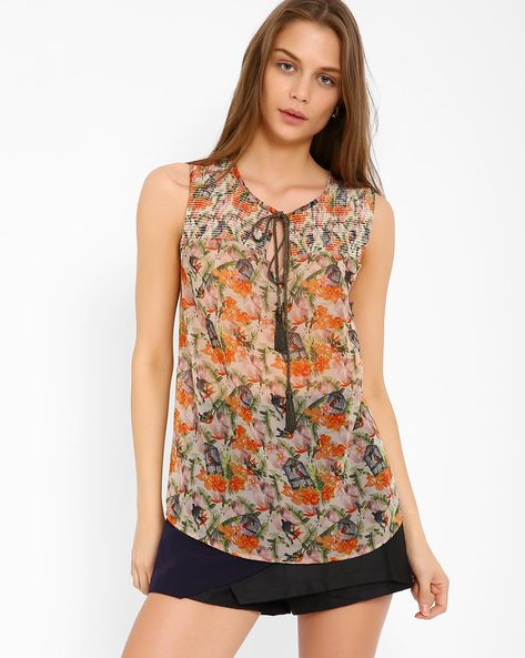Floral Print Top By Oxolloxo ( Multi )