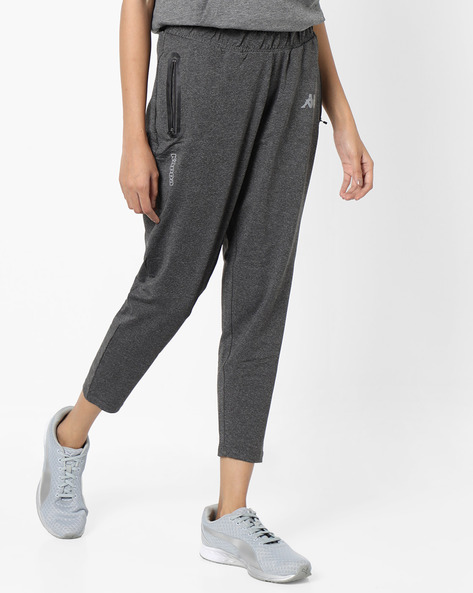 Mid-Rise Track Pants With Elasticated Waist By KAPPA ( Grey )