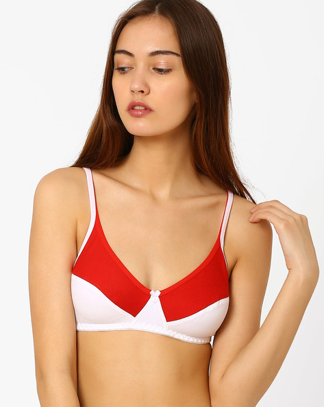 Non-Padded Bra By Floret ( Red )