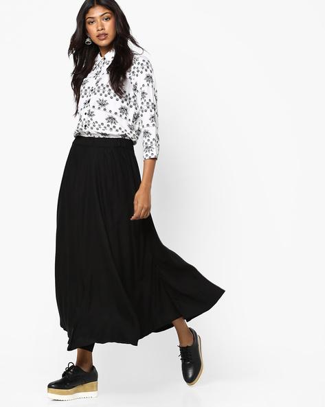 Printed A-line Dress By Akkriti By Pantaloons ( White )