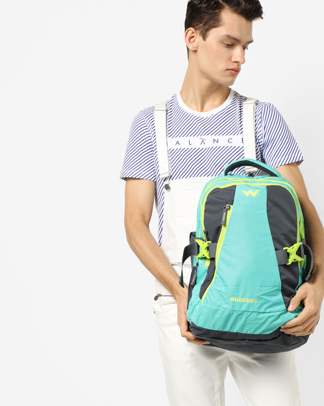 Panelled Everyday Backpack By Wildcraft ( Blue )