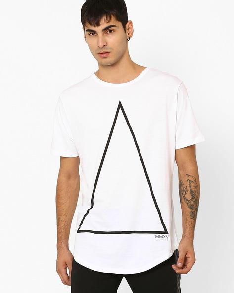 Cotton Crew-Neck T-shirt By ADAMO LONDON ( White )