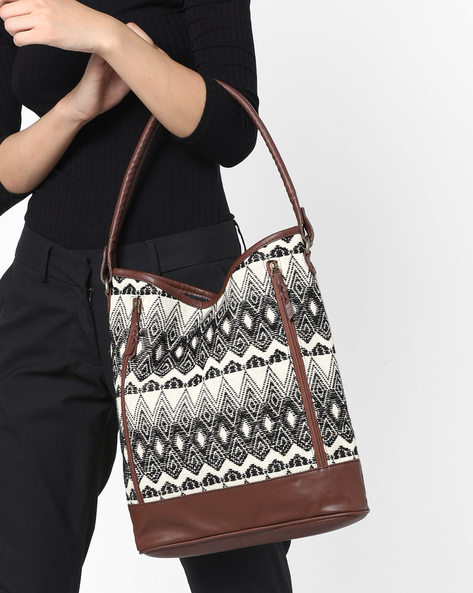Hobo Bag With Geometric Pattern By Project Eve ( Multi )