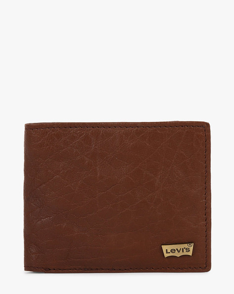 Faux-Leather Bi-Fold Wallet By LEVIS ( Brown )