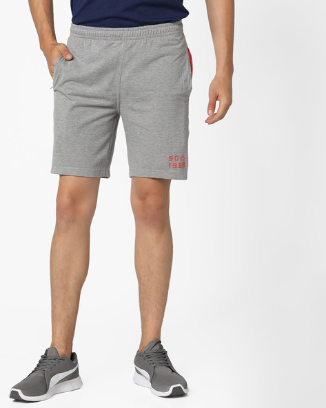 Mid-Rise Shorts With Elasticated Waist By Sweet Dreams ( Grey )