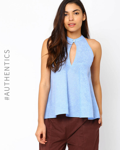 Khadi Flared Top By Red Sister Blue ( Blue )