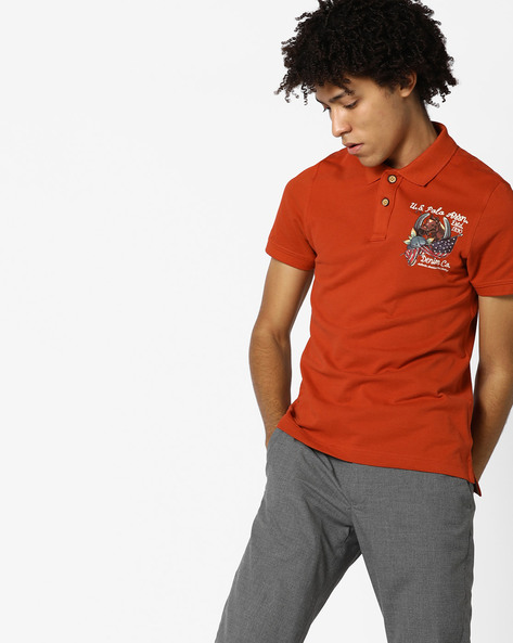 Polo T-shirt With Graphic Print By US POLO ( Multi )