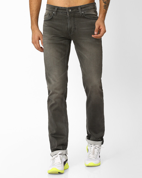 Lightly Washed Slim Fit Jeans By Killer ( Assorted )