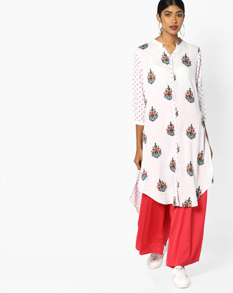 Printed High-Low Kurta By Melange By Lifestyle ( Offwhite )