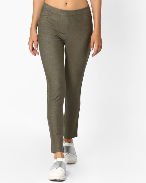 Mid-Rise Jeggings With Pockets By Vero Moda ( Green )