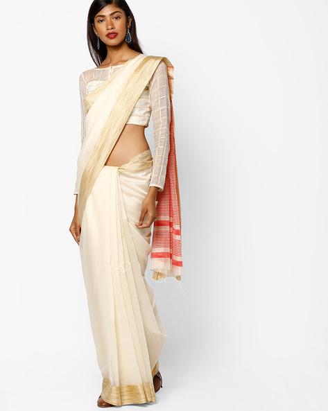 Handloom Weave Saree By SHRIKALA ( Offwhite )