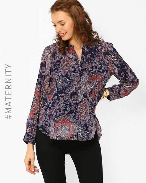 Printed Maternity Top By Oxolloxo ( Multi )