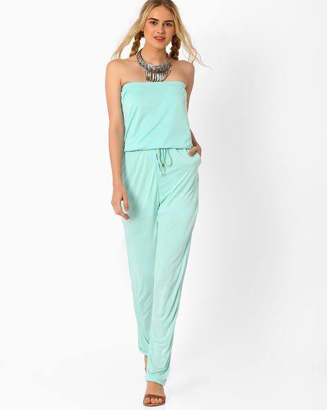 Tube Jumpsuit By AJIO ( Blue )