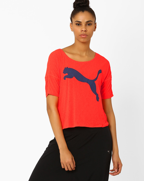 Panelled T-shirt With Overlapping Back By Puma ( Red )