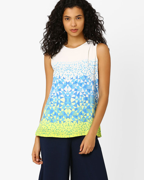 Printed Sleeveless Top By And ( Multi )