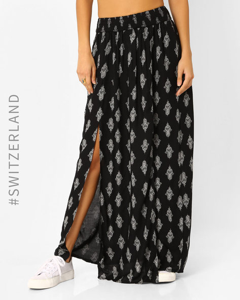 Maxi Skirt With Front Slits By TALLY WEiJL ( Black )