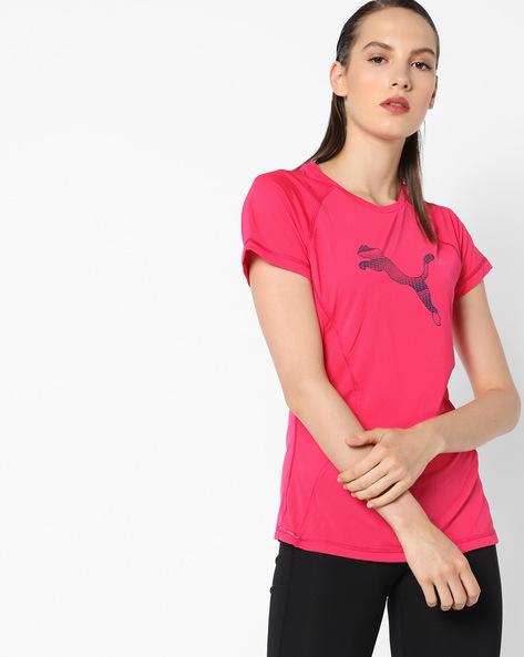 PUMA Cat Print T-shirt By Puma ( Coral )
