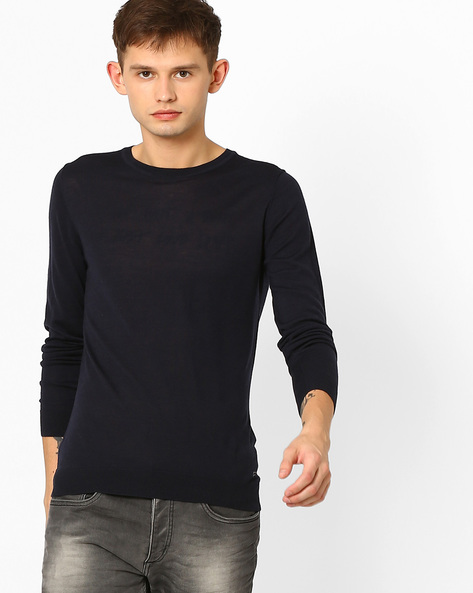 Slim Fit Crew-Neck Pullover By GAS ( 0194 )