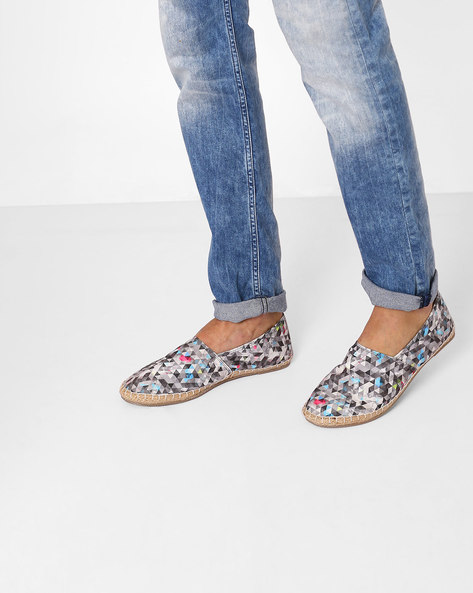 Printed Canvas Espadrilles By FAMOZI ( Multi )