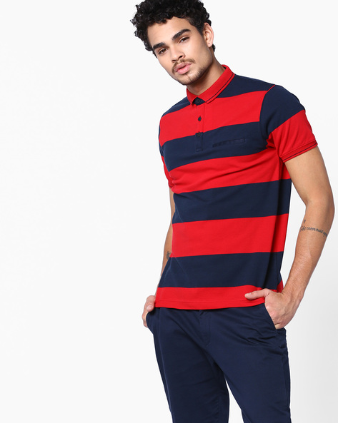Polo T-shirt With Slim Collar By Fort Collins ( Red )