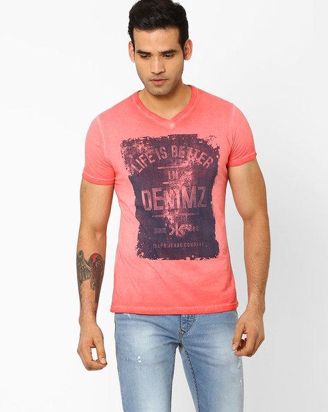 Slim Fit V-Neck T-shirt By Killer ( Assorted ) - 440722874001