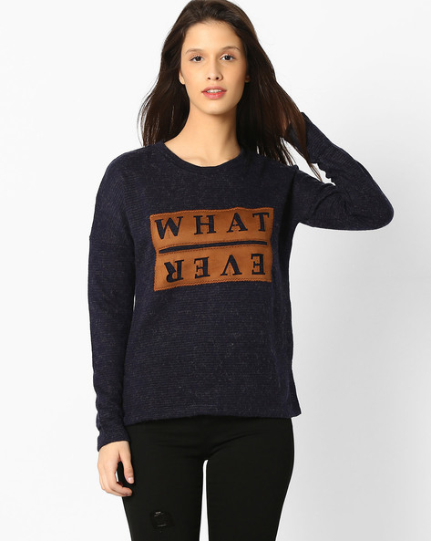 Sweatshirt With Applique By DNM X ( Navy )