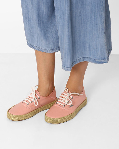 Authentic Casual Canvas Shoes By Vans ( Pink )