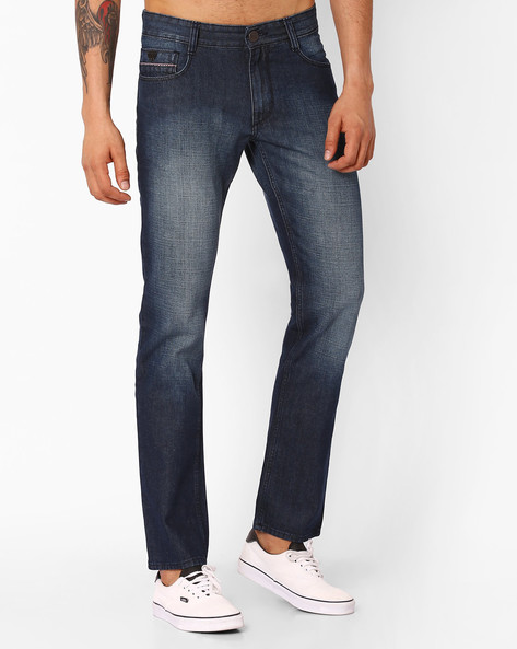 Lightly Washed Slim Fit Jeans By JOHN PLAYERS ( Indigo ) - 460047600002