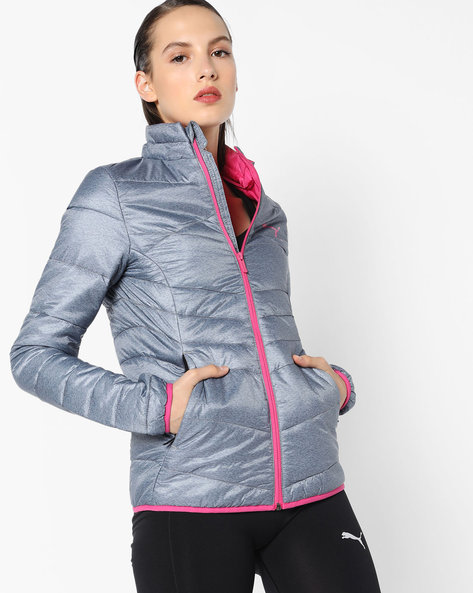 Lightly-Padded Jacket With Contrast Trims By Puma ( Black )
