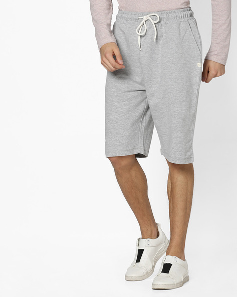 Slim Fit Heathered Drawstring Shorts By Pepe Jeans ( Grey )