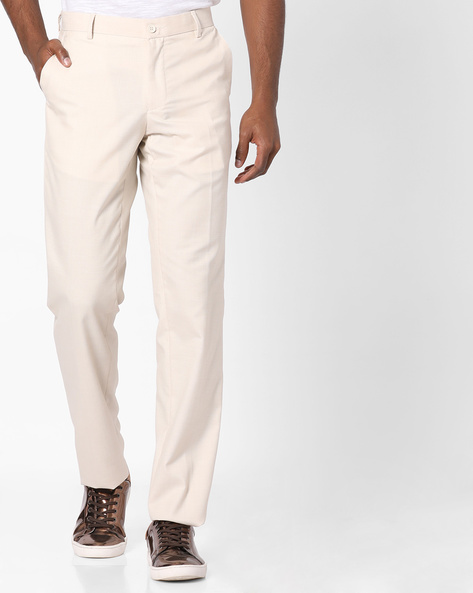 Slim Fit Casual Trousers By NETWORK ( Cream )
