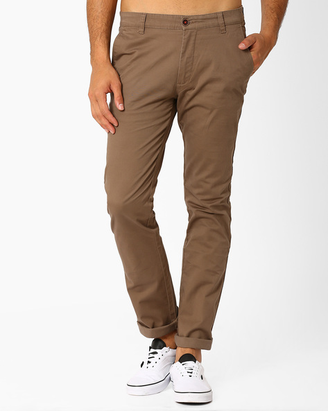 Abelo Slim Fit Trousers By Wills Lifestyle ( Offwhite )