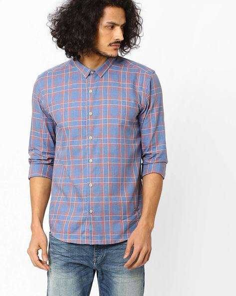 Checked Slim Fit Shirt By VOI JEANS ( Multi )