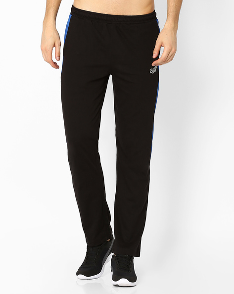 Regular Fit Track Pants With Elasticated Waist By 2Go ( Black )