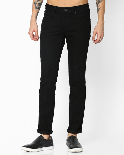 Slim Fit Low-Rise Jeans By WRANGLER ( Black )