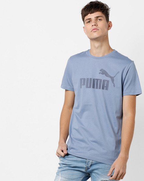 P48 Core Logo Print T-shirt By Puma ( Blue )